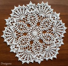 """This doily is 19 rounds and measures about 11"""" Materials 1 300 yd ball of size 10 thread 1.75 mm hook Special Stitc..."""