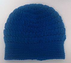 Children's 1-2 years teal crochet skull cap beanie hat