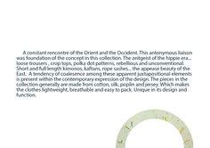 Brief..  * Fashion designer: Sarra Sarri. * Graphic design & text: David Atanasovski