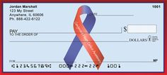 Congenital Heart Defect Awareness Ribbon Personal Checks from Checks-SuperStore.com