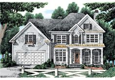 Inverness House Plan - The Inverness has an abundance of flexible space that gives the homeowner plenty of options in finalizing the layout of their new home. Sims House Plans, Garage House Plans, Dream House Plans, House Floor Plans, Frank Betz, Affordable House Plans, Small Floor Plans, Monster House Plans