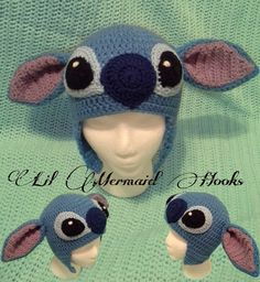 Inspired by Disney's Lilo and Stitch this beanie is made from acrylic yarn and is the perfect gift for that special one that loves the movie :)