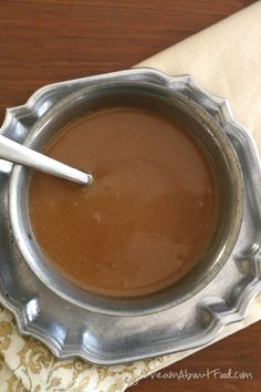 Creamy smooth low carb, sugar-free caramel sauce