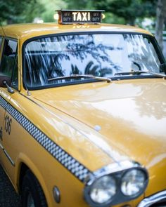 An old-fashioned taxicab makes for a very New York getaway