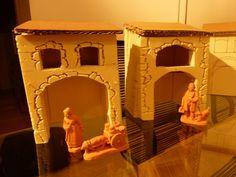 Tuto maisons en polystyrene propos par philippe - Fabriquer une creche de noel en papier ...