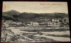 ANTIGUA POSTAL DE BAYONA - GALICIA - BALNEARIO Y PLAYA - NO CIRCULADA. - Foto 1