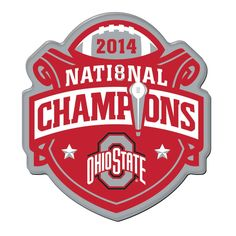 Ohio State Buckeyes 2014 Football National Champions Red Refrigerator Magnet