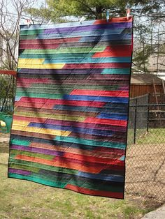 Awesome statement in solids...Jelly Roll Race Side...the other side is very simple, cool!