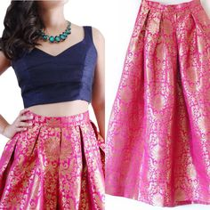 Pure banarsi brocade lehenga skirts with blouse and dupatta Lehenga Choli, Blouse Lehenga, Brocade Lehenga, Lehenga Skirt, Anarkali, Pink Lehenga, Brocade Blouses, Brocade Dresses, Vestidos