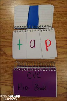 make a flip book to practice reading CVC words and substituting sounds in words to make new words!