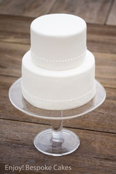 Modern White Wedding Cake by Enjoy! Bespoke Cakes