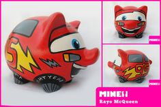 Mcqueen Cars 3, Personalized Piggy Bank, Hot Wheels Party, Art N Craft, Lightning Mcqueen, Monsters Inc, Baby Birth, Car Painting, Money Box