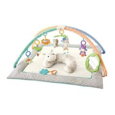 Any activity mat!! There are lots of options. My in laws bought one for their house that looks kind of like this one and it's super padded on the bottom which is nice!!!