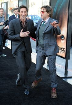 """Adrien Brody Photos - (L-R) Actors Adrien Brody and Robert Downey Jr. arrive at the Premiere of Warner Bros. """"Splice"""" at the Grauman's Chinese Theater on June 2, 2010 in Hollywood, California. - Premiere Of Warner Bros. """"Splice"""" - Arrivals"""