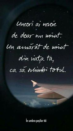 Uneori in bine . Uneori in rău. Insta Posts, True Words, Airplane View, Texts, Abs, Thoughts, Funny, Quotes, Life