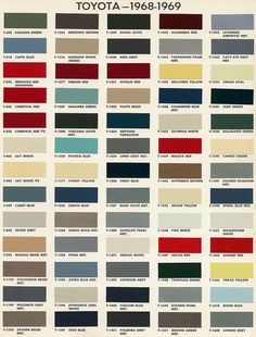 Awesome Color Chart Toyota Auto Paint   Google Search