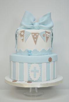 Pastel bautizo niño Baby Boy Cakes, Cakes For Boys, Baby Shower Cakes, Baby Boy Shower, Christening Cake Designs, Christening Cake Boy, Christening Cakes, Baptism Party, Boy Baptism