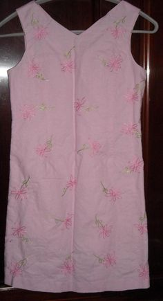 Talbots Kids Pink Embroidered Dress Size 12 Ships Free in the USA