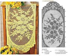 PORTAL OF crochets: WAYS AND TABLE CENTERS IN CROCHET