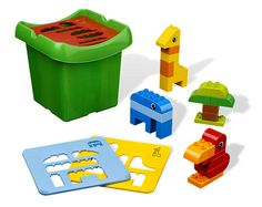 LEGO DUPLO - Creative Sorter- $21.95  Sort and build a world of stimulating play!    Stimulate your child's mind with this great Lego Duplo Creative Sorter set. Not only does the set include an assortment of 23 color-coded basic and rounded Duplo bricks, but the 3 matching blue, yellow and red sorting plates help your child to sort the shapes needed to build a parrot, elephant and giraffe. The sorting plates double as a lid for the sturdy plastic storage box.