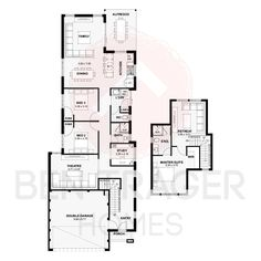 The Genaldi | Double Storey | 3 Bed | 2 Bath | 232m² | © Ben Trager Homes