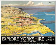 YORKSHIRE 'Explore Yorkshire', LNER poster, 1923-1947.