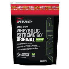 GNC Pro Performance® AMP Amplified Wheybolic Extreme 60™ Original - Natural Vanilla - GNC PRO PERFORMANCE - GNC Mix ONE scoop of any flavor with 8-12 ounces of water in a shaker cup or mix in blender with water, 3-4 ice cubes and Torani or DaVinci sugar-free syrup of choice. 1 serving = 100 calories, 20 grams of protein and 4 grams of carbs