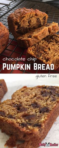 You must try this easy recipe for gluten free Pumpkin Chocolate Chip bread!