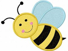 Bumble bee Applique Machine Embroidery Design by JoyousEmbroidery, $2.99