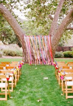 Wooden Backdrop Stand with ribbons