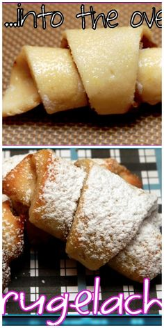 Not exactly sure what rugelach is but it looks good - Hugs and Cookies XOXO Apple Recipes, Cookie Recipes, Dessert Recipes, Chocolate Rugelach Recipe, Jewish Recipes, Jewish Desserts, Jewish Food, Best Food Ever, Mini Chocolate Chips