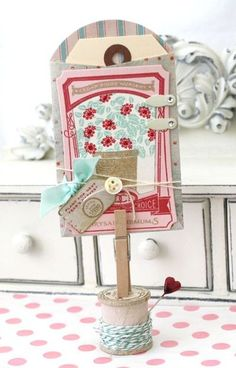 Garden Variety Gift Tag by Melissa Phillips for Papertrey Ink (April 2012)