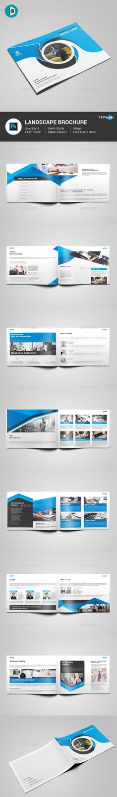 Brochure This Brochure Template Contains 16 Pages. You can use this brochure for your business purpose or others sector. You can easily change all text, layers, images etc (Smart Object use for image import).