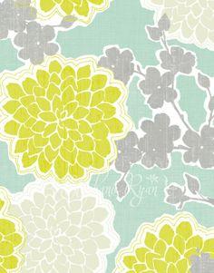 Kitchen colors?    Graphic Illustration Print Loving Blossoms by stephanieryanart, $22.00