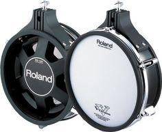 """Roland PD-105 V-Pad - Black by Roland. $359.00. How do you improve on the worlds most popular electronic percussion pads? Roland's PD-105BK starts by employing a brand new sensor mechanism for more accurate triggering. Then the PD-105BK includes Roland's newest dual-triggering capacity, resulting in more even and accurate sensing between the head and the rim. These are the first V-Pads with true rim shot capabilities - including the actual """"rim click"""" sound - on..."""