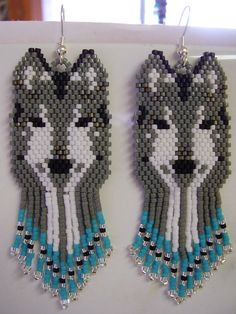 Native American Design Beaded Grey and White by BeadedCreationsetc, $65.00
