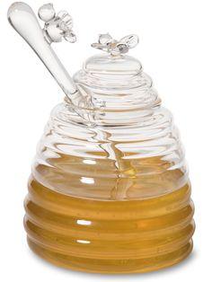Honey Dispenser - Honey Pot - Honey Jar - Honey Pot with Dipper