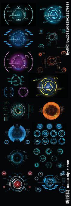 科技元素 Game Ui Design, Ux Design, Graphic Design, Ui Elements, Design Elements, Game Gui, Ui Design Inspiration, Futuristic Design, User Interface Design