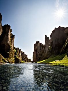 Fjaðrárgljúfur Canyon in south east Iceland (by oskarpall). - Its a beautiful world