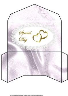 Money wallet Wedding anniversary on Craftsuprint designed by Marijke Kok - Moneywallet for wedding,anniversary,special days.... - Now available for download!