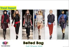 Belted #Bag Trend for Fall Winter 2014. #Bags