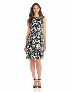 Adrianna Papell Women's Zebra Print Flare Dress « MyStoreHome.com – Stay At Home and Shop