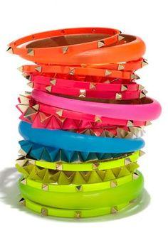 #Jewelry #Bracelet #bangle #stacked #bright #bold