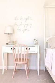 Girls Room Ideas: 40 Great Ways to Decorate a Young Girl's Bedroom 37 #kidsbedroomfurniture