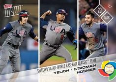2017 Topps Now #W-64 Christian Yelich / Marcus Stroman / Eric Hosmer Front