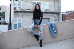 Fall is sadly coming to an end … * tear so I wanted to showcase one of my favorite outfits this month! I live and die for these Grlfnd denim, they are cut to perfection and show off every flattering inch of a woman's body! Currently obsessed! absolute best jeans of 2016! Anything see through is trending right now .…