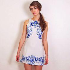 White China Dress