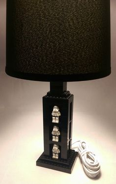 Kids Bedroom Lamp With Display Area For Star Wars Minifigures   Kids  Bedroom Accent Light, Built With LEGO Bricks