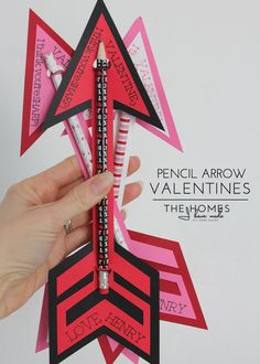 The Homes I Have Made: Pencil Arrow Valentines