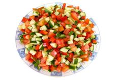 Combine cucumbers, bell pepper, tomatoes, lemon juice, oil, parsley, salt and pepper in medium-sized salad bowl and mix well. 	Chill for 1 hour. 	Just before serving, garnish salad with fresh cilantro or parsley, if desired.  Contributed by: Quick & Kosher, JAMIE GELLER